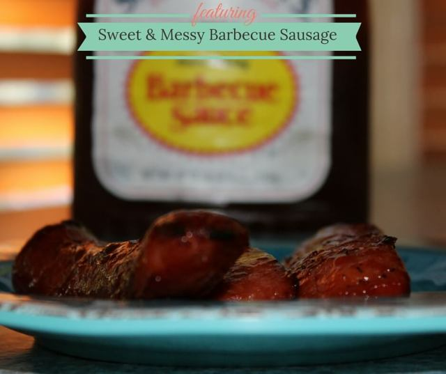 sweet and messy barbecue sausage