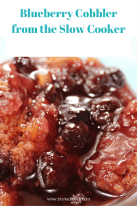Blueberry Cobbler from the Slow Cooker