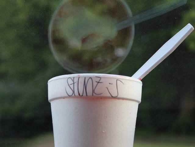 Strawberry Cheesecake Supreme snow cone from Jerry's Sno Cones.