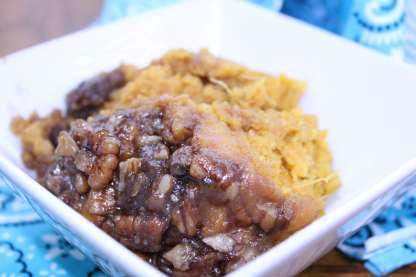 This slow cooker recipe for sweet potato casserole is as easy as it is delicious.