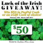 Luck of the Irish 2017 #Giveaway Ends Mar. 10 *ENDED*