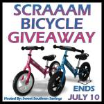 Summer's Here! SCRAAAM Balance Bike #GIVEAWAY Ends July 10 *ENDED*