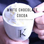 Single Serve Microwave White Chocolate Cocoa #Recipe