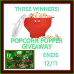 U-POP POPCORN POPPER #Giveaway Ends Dec. 11 *ENDED*