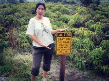 trish hiking big island volcano trail