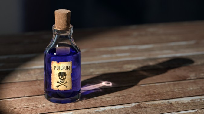 alcohol addiction pic: bottle of poison