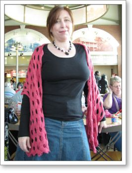 Modeling a finished wrap--gorgeous!