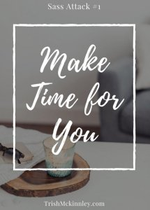 'Make Time for You' written over an image of table, coffee mug and glasses