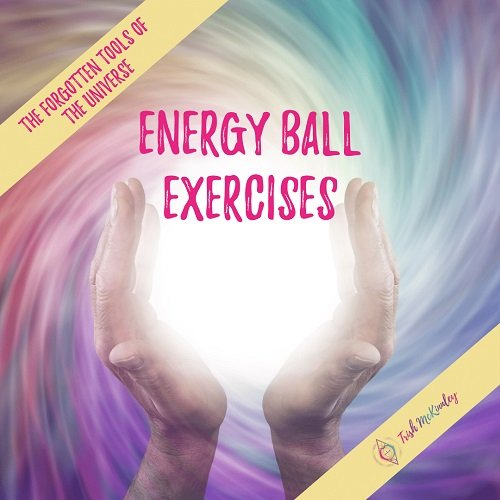 Hands over 'energy ball' with the title: Energy Ball Exercises: The Forgotten Tools of the Universe