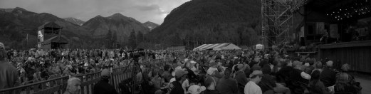 A stunning setting for the 35th Telluride Bluegrass Festival featured both The Frames and The Swell Season