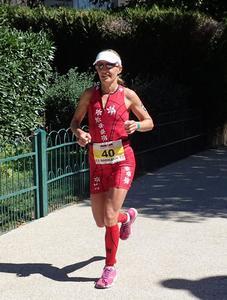 Natascha Badmann, 3ª colocada no Ironman Vichy com o melhor pedal do dia entre as mulheres