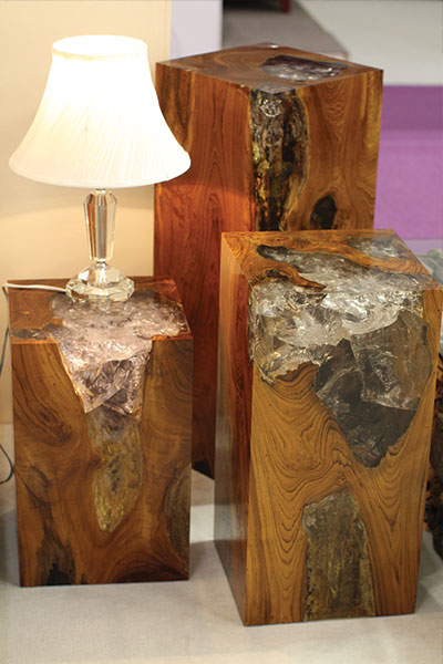 Teak And Cracked Resin Furniture Tristan Cockerill