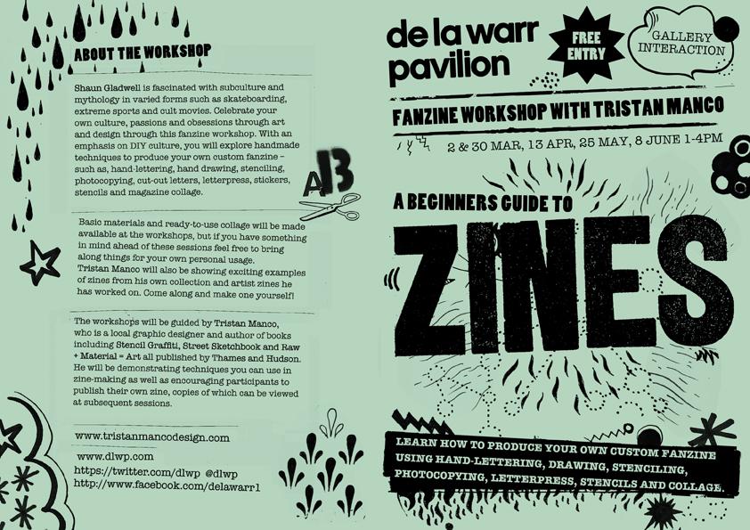 Zine workshops @ De La Warr Pavilion