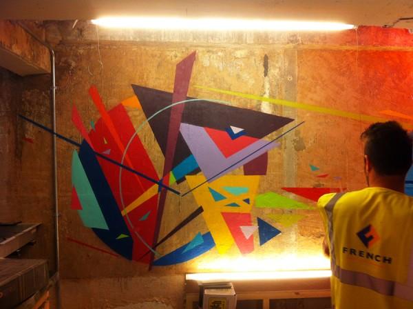 Basement alcove painting