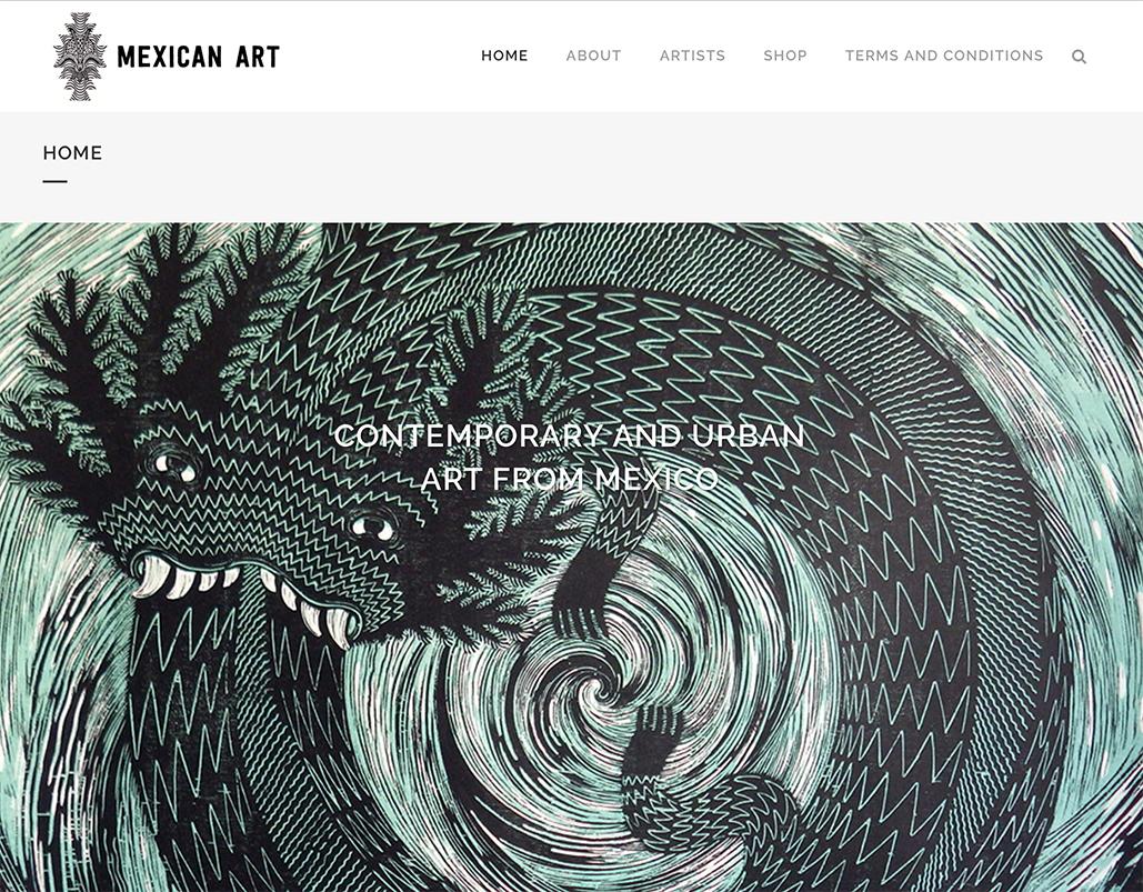 Mexican Art UK website