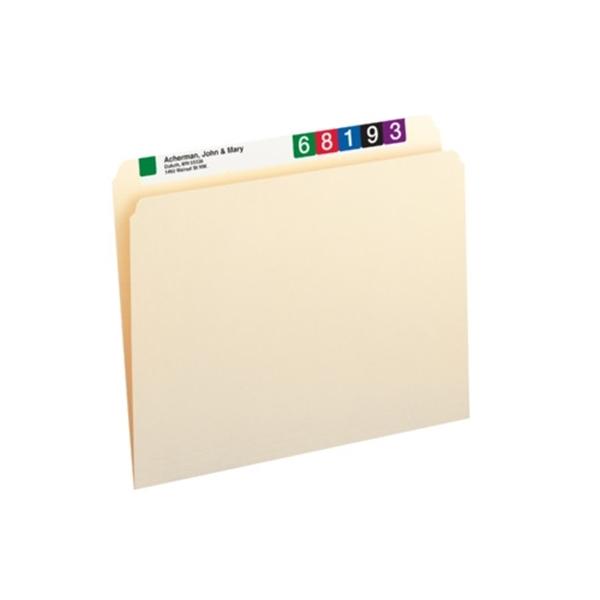 Smead 10300 Manila File Folder StraightCut Tab Letter