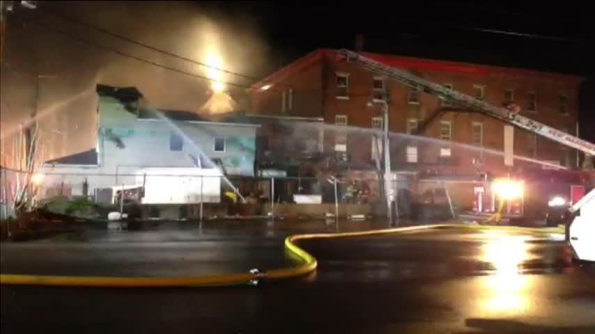 Crews Working Fire at Deans Diner in Mt- Vernon