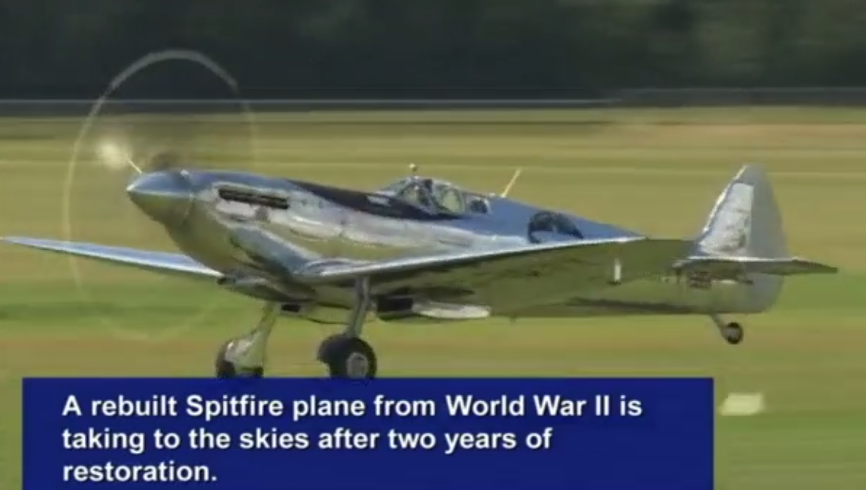 DIGITAL DAILY: WWII Spitfire attempts round the world record
