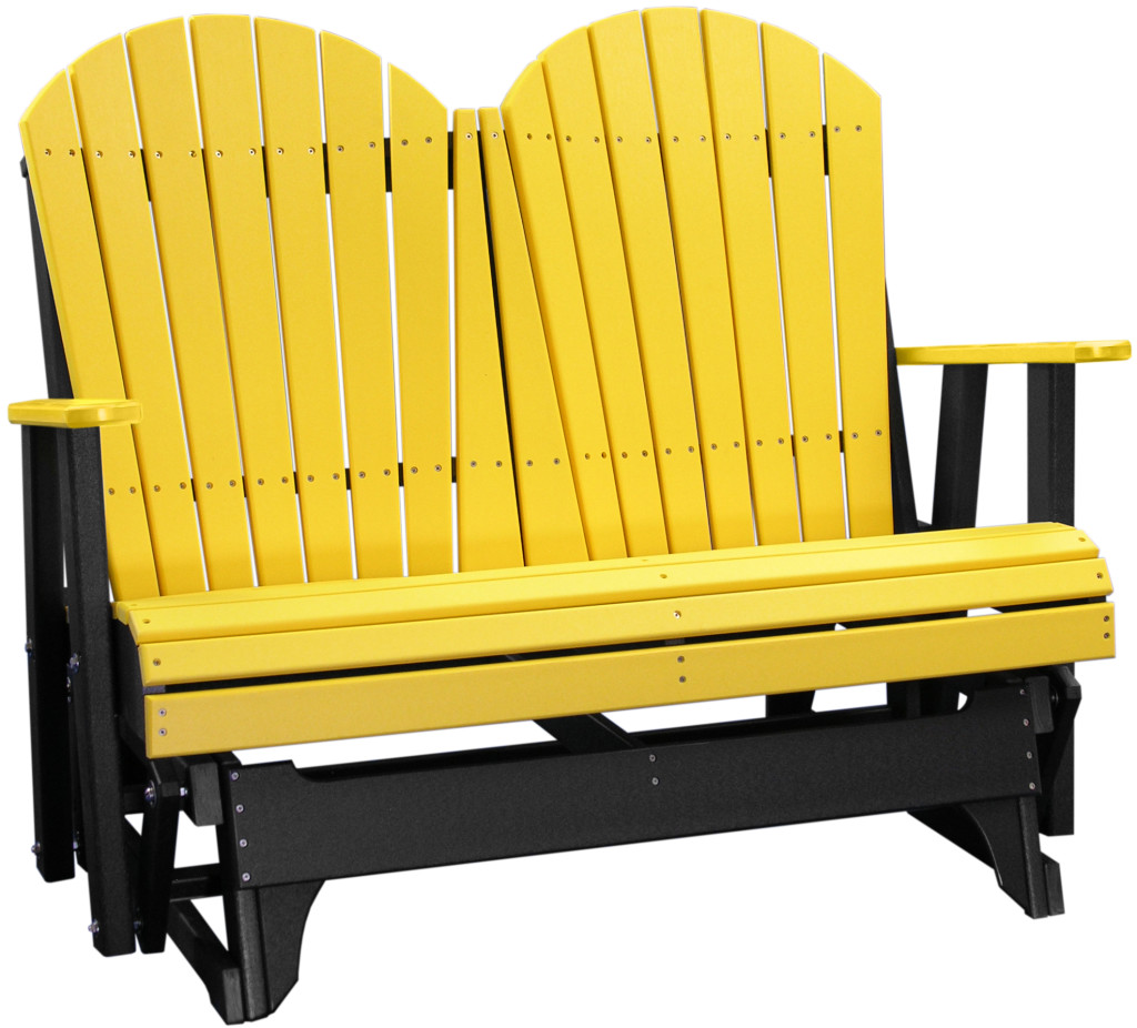 yellow adirondack chairs plastic dunnes stores dining chair covers 4 glider black  tri state outdoor