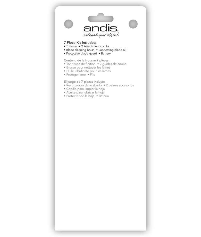 Andis Cordless Trim 'N Go 7-Piece Portable Trimmer