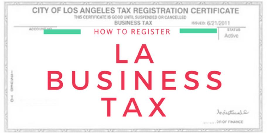 How To Register For LA Business Tax – Tristen MacDonald