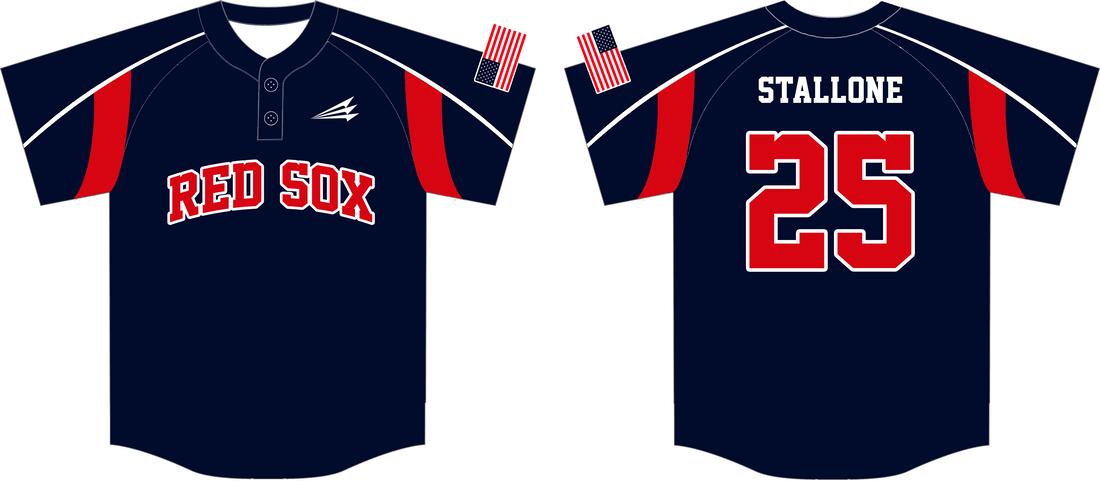 Download RedSox (Stallone) Custom Baseball Jerseys - Triton Mockup ...