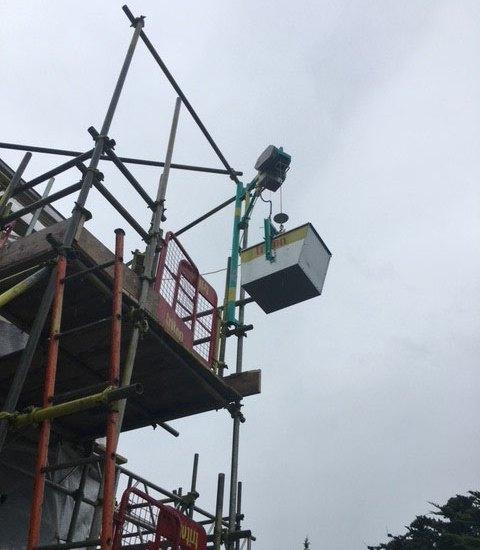 Elephant Hoist Hire at Top - Triton Scaffolding Ltd