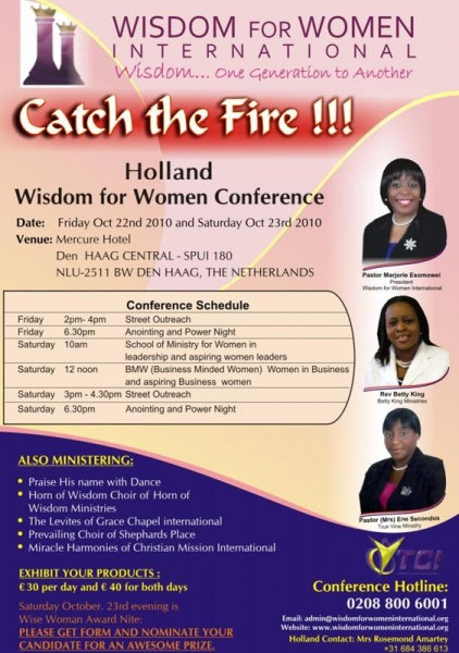 Catch The Fire!!! Holland Wisdom For Women Conference