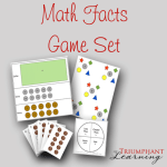 The Math Facts Game Set can be used as a stand alone set of games to teach the addition and multiplication facts or can be used as a supplement to any math program. It is designed for grades 1-6 and includes three games: Coin Change-Up, Pennies to Nickels, and 6 Tens.