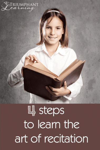 """Recitation is """"The Children's Art."""" Help your child learn the art of recitation in four steps."""