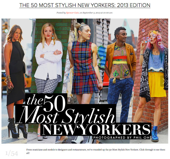 top 50 stylish new yorkers