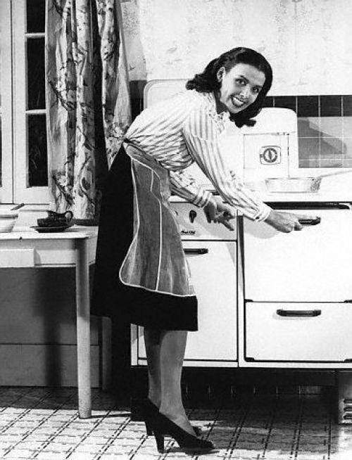 Lena Horne Demonstrating Fuel Conservation