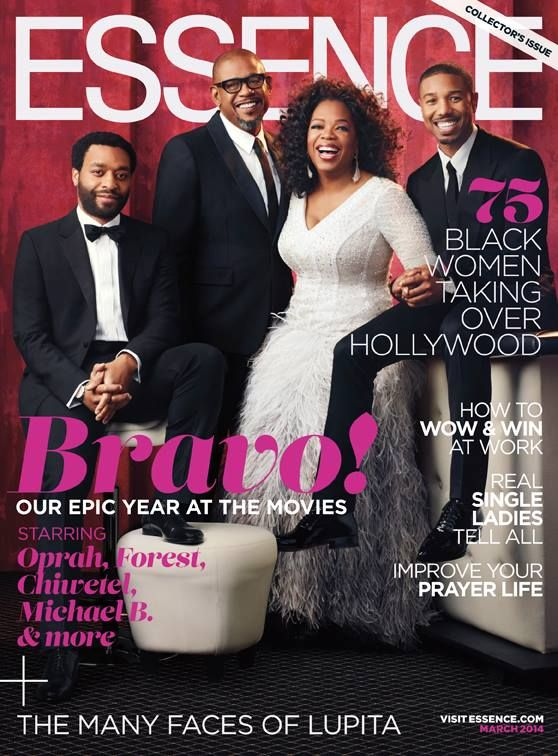 Chiwetel Ejiofor, Forest Whitaker, Michael B. Jordan, and Oprah Winfrey for Essence Magazine.