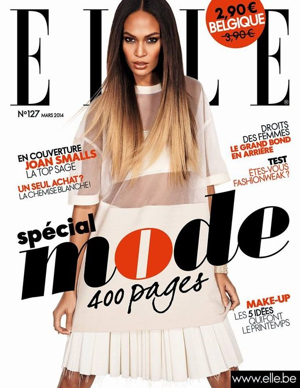 Joan Smalls for ELLE Magazine (Belgium Edition)