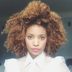 Natural curly hair style Rene Daniella Ownbyfemme messy knot