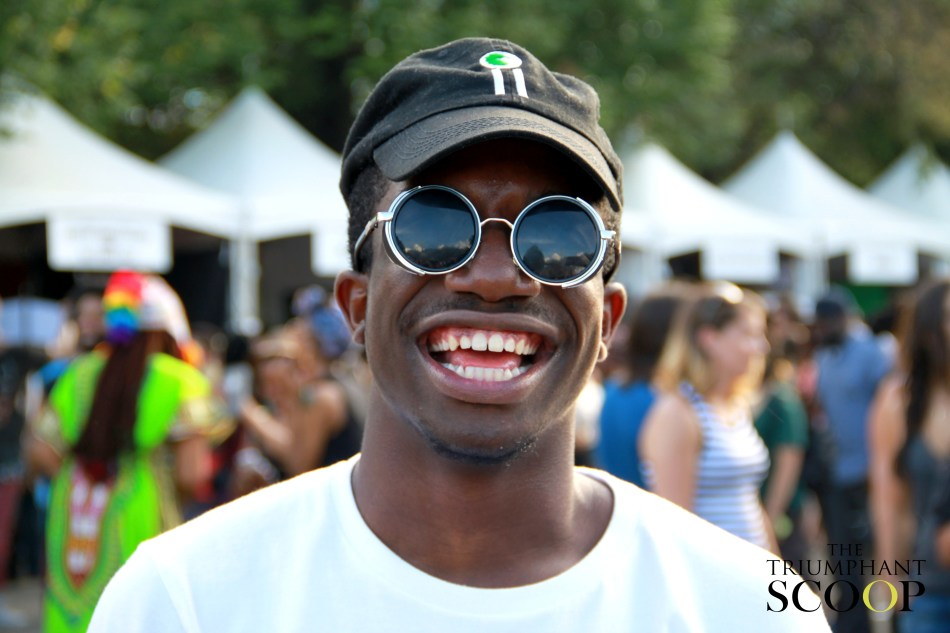Afropunk Brooklyn Black man with a smile