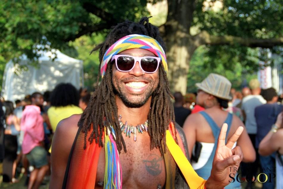Afropunk Brooklyn Black man smile