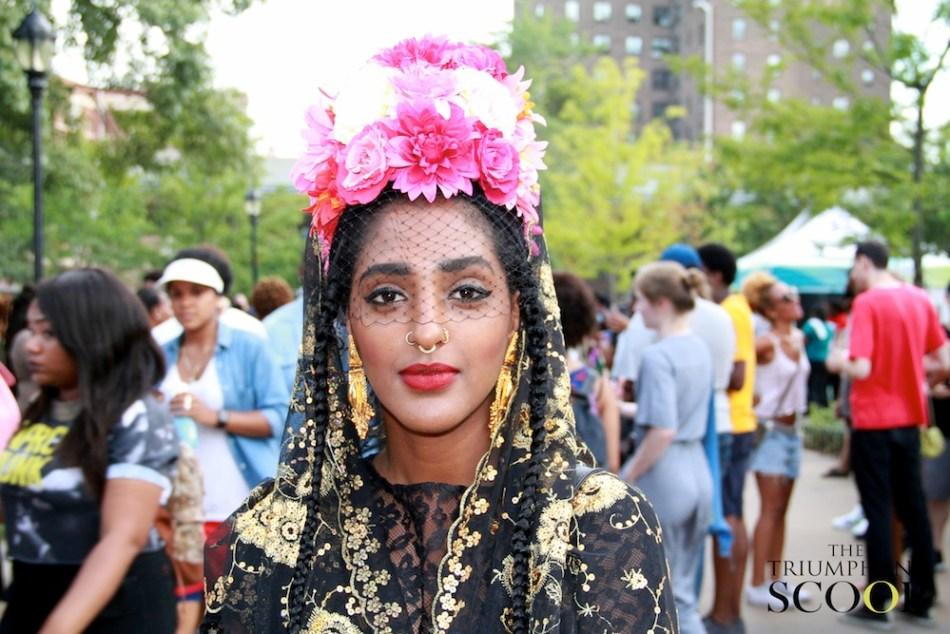 Afropunk Brooklyn Beautiful woman streetstyle