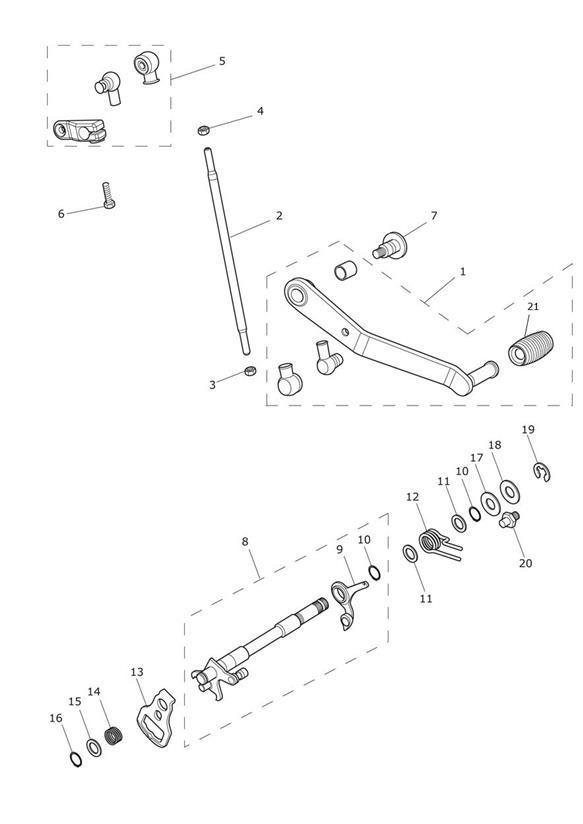 2014 Triumph Tiger Kit, Detent Wheel & Plate. > Eng No