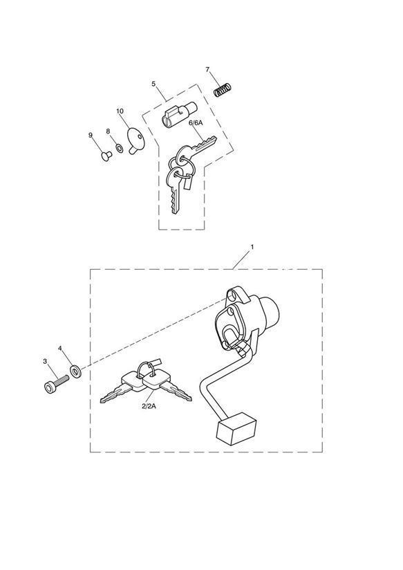 Triumph Bonneville Key, Blank. Switch, Supplied, Steering