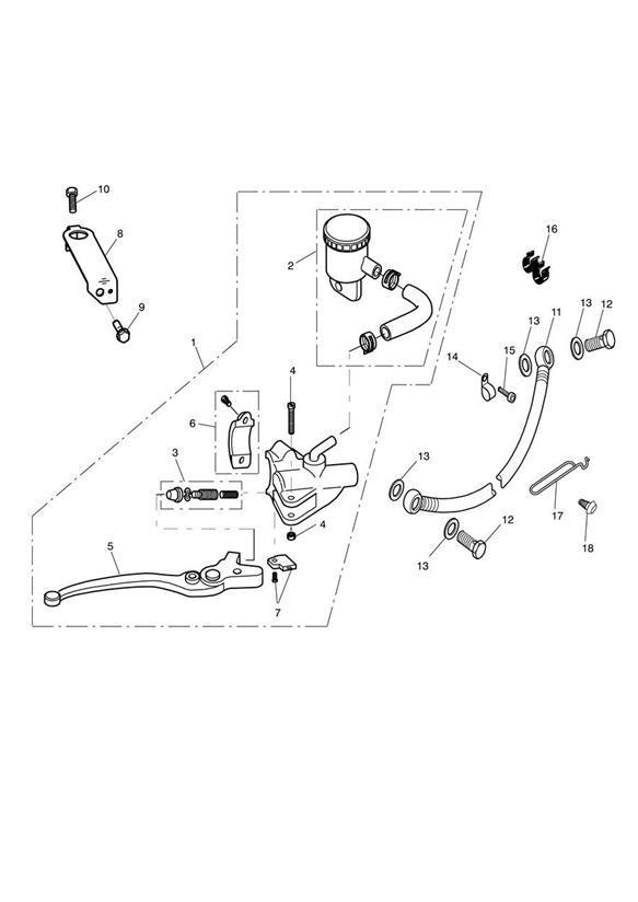 Triumph Bonneville Switch Set, Front M/Cyl. Brake, Master