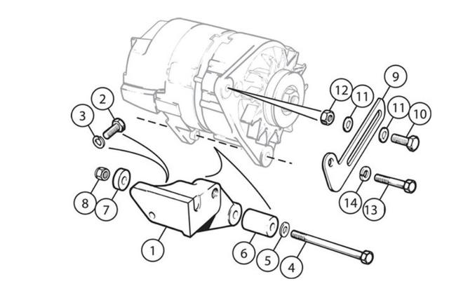 Hard re-positioning alternator after air pump removal