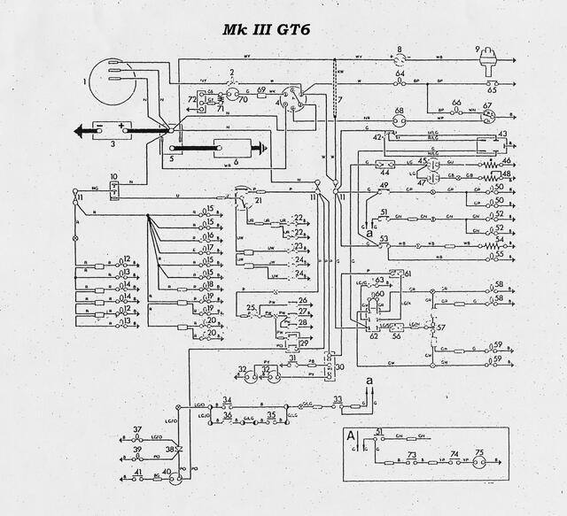 Wiring diagram for 73 gt6 mk3 : Spitfire & GT6 Forum
