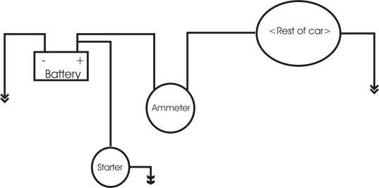 connecting ammeter to circuit