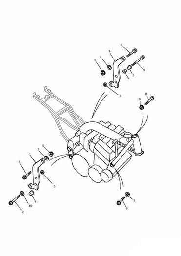 Linkage Carrier/Engine Mounting Bolts Daytona 750 & 1000