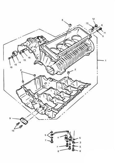 Crankcase 4 Cylinder Daytona 900, 1200, Super III