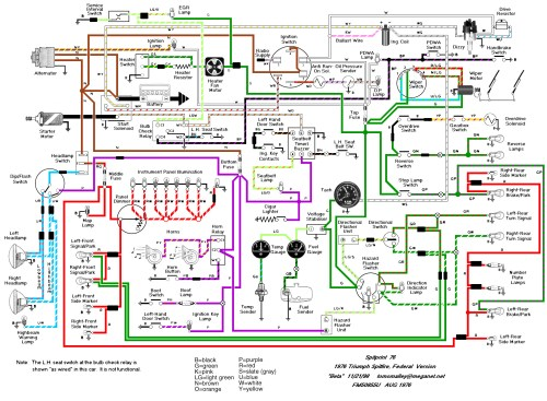 small resolution of tr6 wiring schematic wiring diagram for you 1976 triumph tr6 wiring diagram wiring diagrams konsult tr6