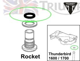 Triumph Rocket3 Ölsystem O-Ring 12.1X1.6 Rocket III