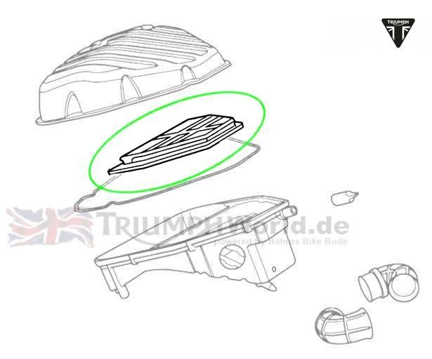 Triumph Sprint ST Luftfilter Sprint ST 1050 Art.Nr.: T2204820