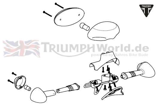 Triumph Bonneville Rücklicht Bonneville & T100 Vergaser
